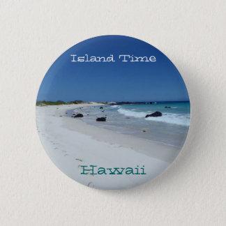 Bóton Redondo 5.08cm Botão cénico da lembrança da praia de Havaí do