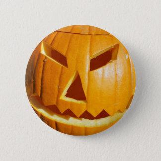 Bóton Redondo 5.08cm Botão cinzelado o Dia das Bruxas feliz da cara da