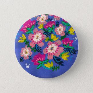 Bóton Redondo 5.08cm Botão cor-de-rosa das flores