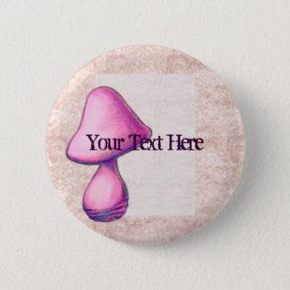 Bóton Redondo 5.08cm Botão cor-de-rosa do cogumelo