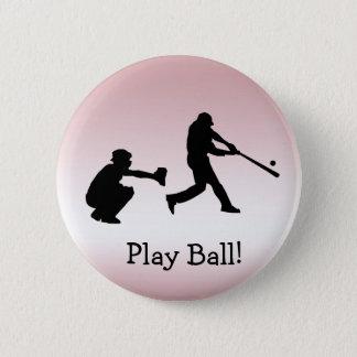 Bóton Redondo 5.08cm Botão cor-de-rosa feminino da bola do jogo de