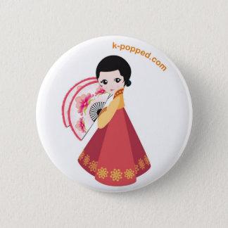 Bóton Redondo 5.08cm Botão coreano do dançarino