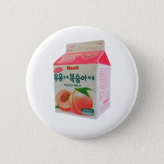 Bóton Redondo 5.08cm Botão coreano do leite do pêssego