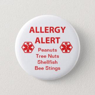 Bóton Redondo 5.08cm Botão customizável do alerta da alergia