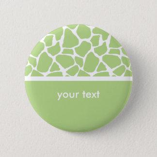 Bóton Redondo 5.08cm Botão customizável do impressão verde do girafa