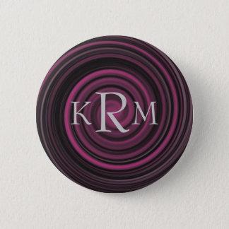 Bóton Redondo 5.08cm Botão customizável do redemoinho da ameixa das