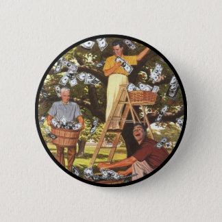 Bóton Redondo 5.08cm Botão da árvore do dinheiro grande