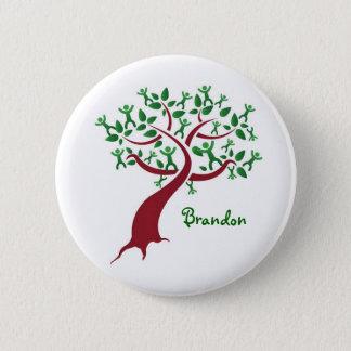 Bóton Redondo 5.08cm Botão da árvore genealógica