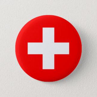 Bóton Redondo 5.08cm Botão da bandeira da suiça