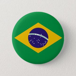 Bóton Redondo 5.08cm Botão da bandeira de Brasil