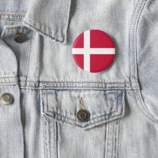 Bóton Redondo 5.08cm Botão da bandeira de Dinamarca