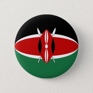 Bóton Redondo 5.08cm Botão da bandeira de Kenya Fisheye