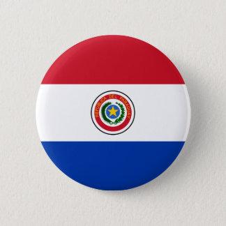 Bóton Redondo 5.08cm Botão da bandeira de Paraguai