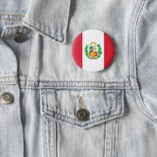 Bóton Redondo 5.08cm Botão da bandeira de Peru