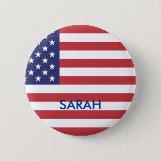 Bóton Redondo 5.08cm Botão da bandeira de Sarah Palin