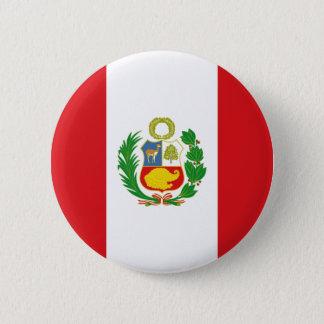 Bóton Redondo 5.08cm Botão da bandeira do estado de Peru