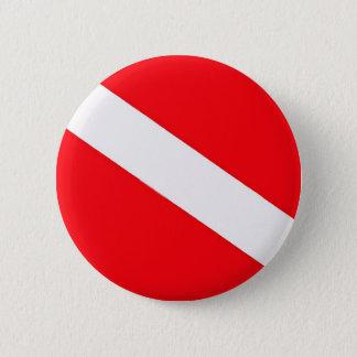 Bóton Redondo 5.08cm Botão da bandeira do mergulho
