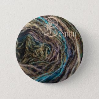 Bóton Redondo 5.08cm botão da beleza, Noro azul