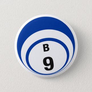 Bóton Redondo 5.08cm Botão da bola do Bingo B9
