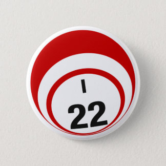 Bóton Redondo 5.08cm Botão da bola do Bingo I22