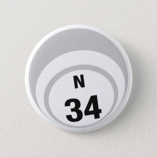 Bóton Redondo 5.08cm Botão da bola do Bingo N34