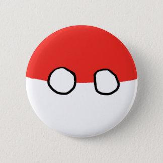 Bóton Redondo 5.08cm Botão da bola do Polônia