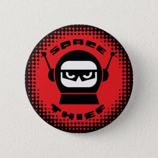 Bóton Redondo 5.08cm Botão da cabeça do robô do ladrão do espaço