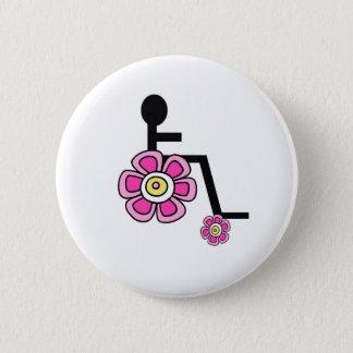 Bóton Redondo 5.08cm Botão da cadeira de rodas de flower power