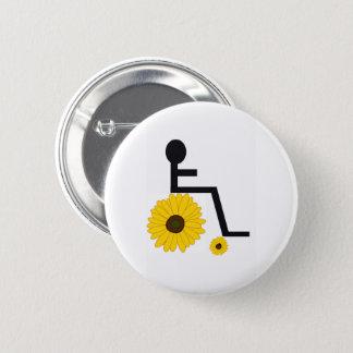Bóton Redondo 5.08cm Botão da cadeira de rodas do girassol