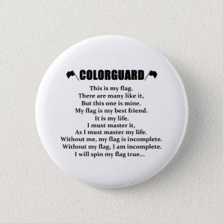 Bóton Redondo 5.08cm Botão da cadência de Colorguard