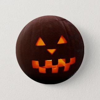 Bóton Redondo 5.08cm Botão da cara da abóbora do Dia das Bruxas