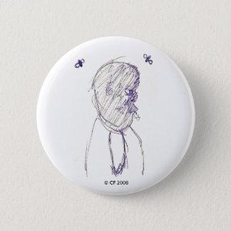 Bóton Redondo 5.08cm Botão da cara da mosca