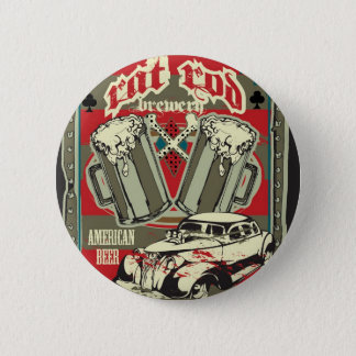 Bóton Redondo 5.08cm Botão da cervejaria de Rod do rato