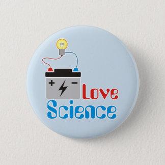 Bóton Redondo 5.08cm Botão da ciência do amor