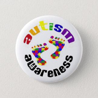 Bóton Redondo 5.08cm Botão da consciência do autismo