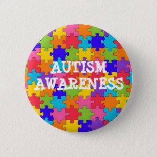 Bóton Redondo 5.08cm BOTÃO da consciência do autismo da parte do