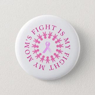 Bóton Redondo 5.08cm Botão da consciência do cancro da mama da luta da