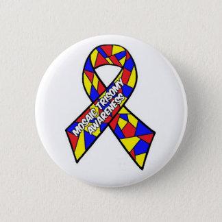 Bóton Redondo 5.08cm Botão da consciência do Trisomy do mosaico