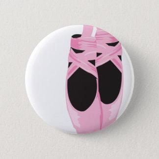 Bóton Redondo 5.08cm Botão da dança do rosa da bailarina do KRW