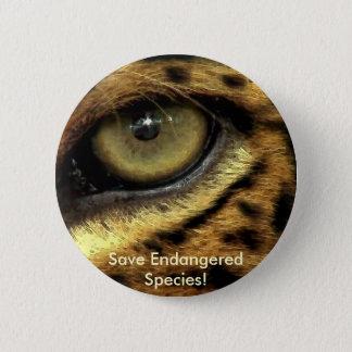 Bóton Redondo 5.08cm Botão da espécie em vias de extinção do olho do
