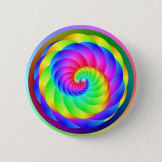 Bóton Redondo 5.08cm Botão da espiral da roda de cor