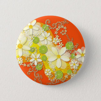 Bóton Redondo 5.08cm Botão da festão do limão chave