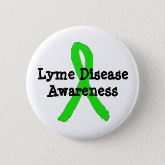 Bóton Redondo 5.08cm Botão da fita da consciência da doença de Lyme