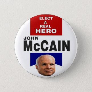 Bóton Redondo 5.08cm Botão da fita do herói de McCain