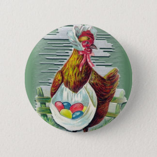Bóton Redondo 5.08cm Botão da galinha e da páscoa dos ovos