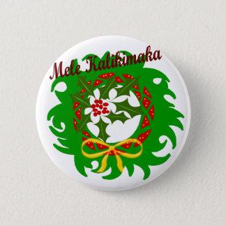 Bóton Redondo 5.08cm Botão da grinalda de Mele Kalikimaka