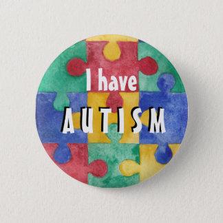 Bóton Redondo 5.08cm Botão da identificação do autismo