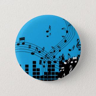 Bóton Redondo 5.08cm Botão da ilustração da música