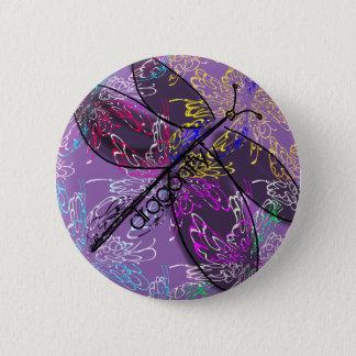 Bóton Redondo 5.08cm Botão da libélula