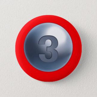 Bóton Redondo 5.08cm Botão da mãe 3 do apoio
